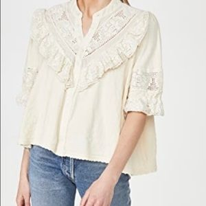 Free People Walk In the Park Top in Canvas